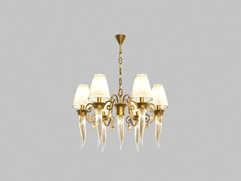 European-style golden yellow chandelier