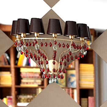 Golden crystal pendant lamp