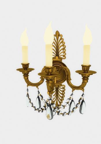 European Metal Crystal Wall Lamp