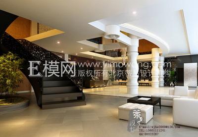 White modern hotel lobby