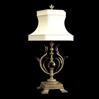 European retro metal base desk lamp