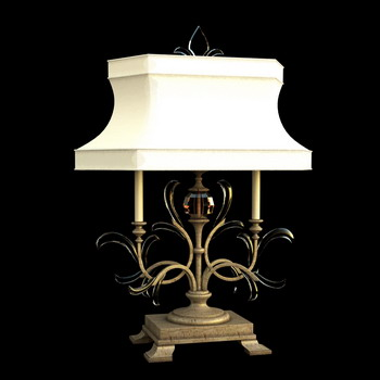 European classic white shade lamp