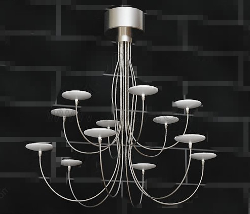 Metal candlesticks pendant lamp