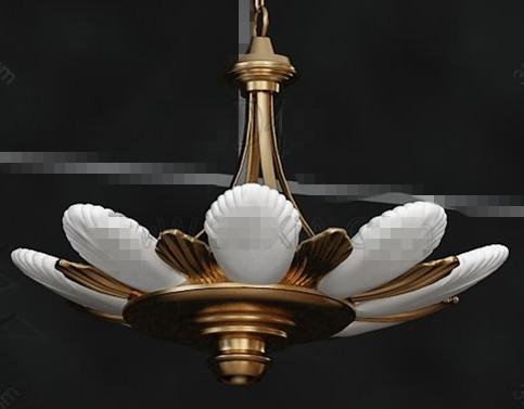 Lotus flower shaped pendant lamp