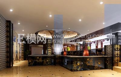 Chinese lobby of the hotel