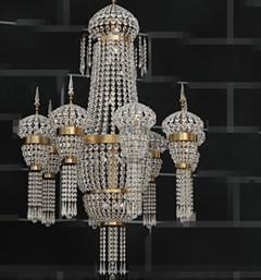 European crystal bead curtain chandelier
