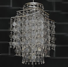 Flake bead curtain chandelier