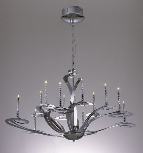 European classical 3D models of large iron chandelier