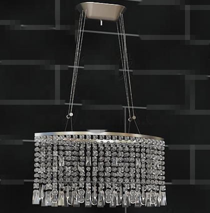 Transparent curtain-style pendant lamp