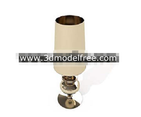 Long cylindrical metal lamp