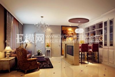 Simple European-style living room and dining  3D models