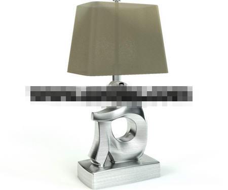 Figure shape metal table lamp