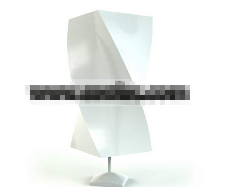 Gypsum abstract rectangular table lamp