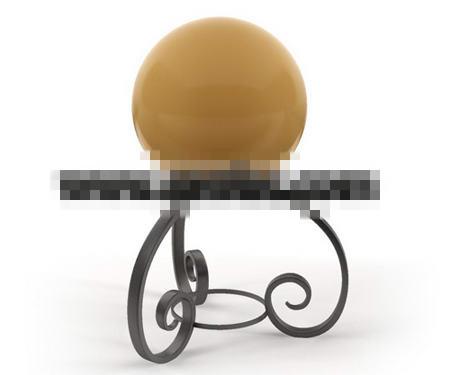 Ball-type metal stent floor lamp