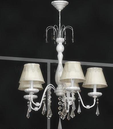 White delicate pendant lamp