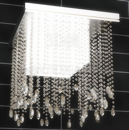 Square bead curtain pendant lamp