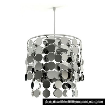 Silver plate decorated chandelier 3D model