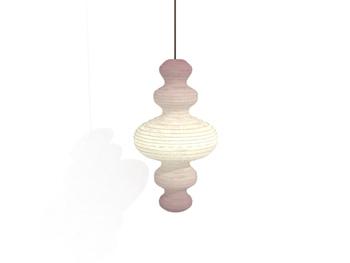 Hoist shaped spiral pendant lamp