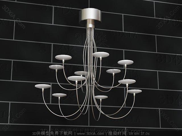 Candlestick metal chandelier