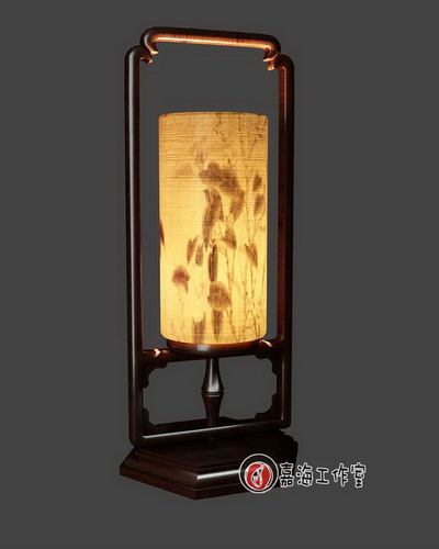 Chinese-style wooden lamp-5