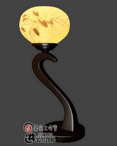 Chinese-style wooden lamp-4