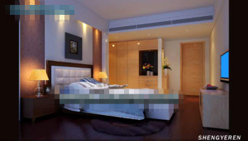 Simple and compact bedroom