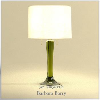 Green glaze base desk lamp 3D models