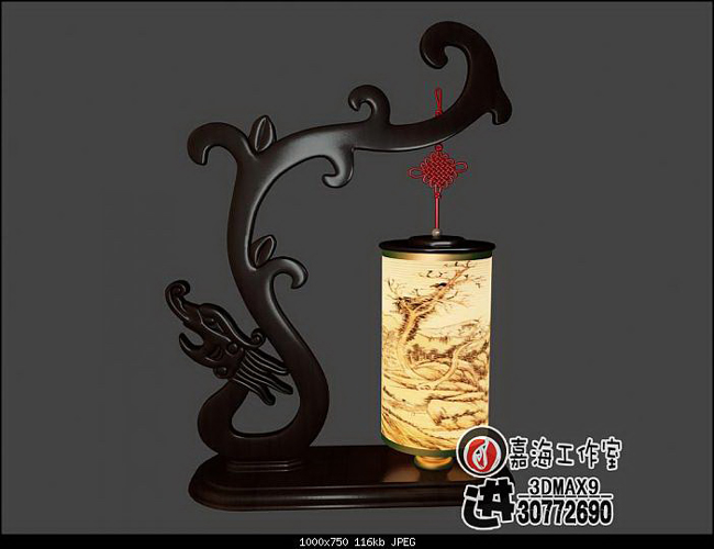 Chinese style desk lamp - tenglong 3D models