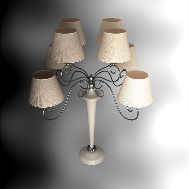 European rural style more cap lamp 3D models