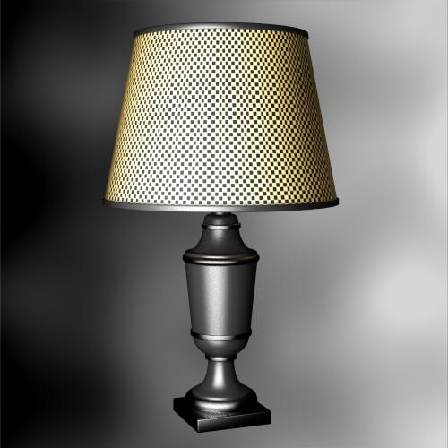 European rural style desk lamp 3D models