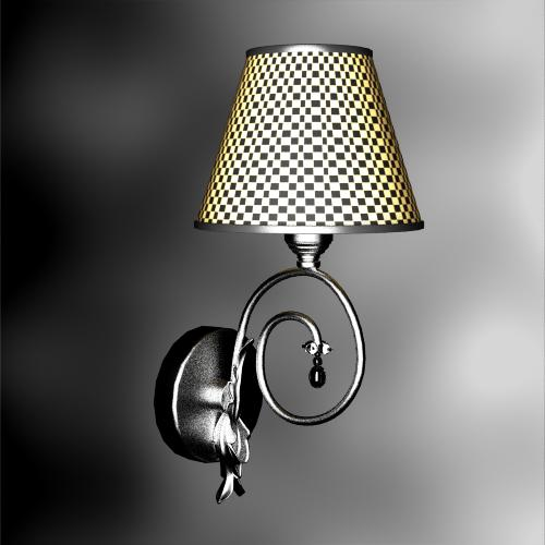 Rural style grid weave wall lamp 3D models