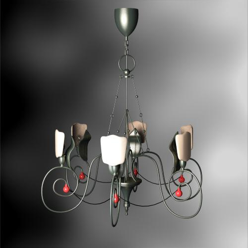 European-style castle chandelier red dotted