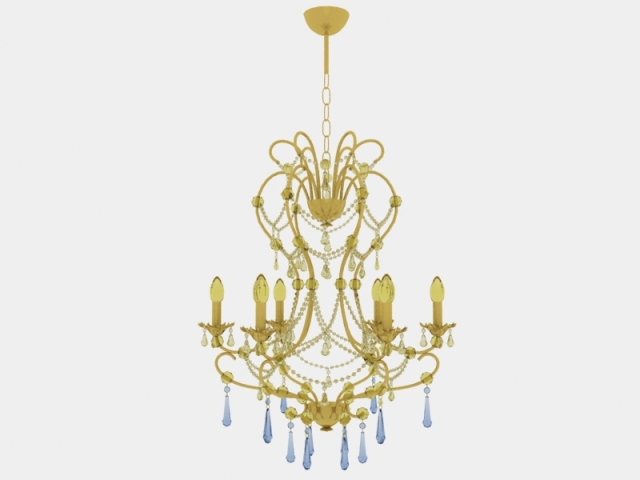 Golden crystal candle chandelier European nobility