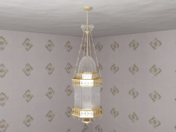 European aristocracy gold chandelier