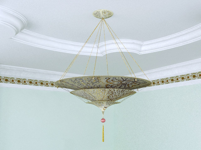 European-style chandeliers and elegant umbrella