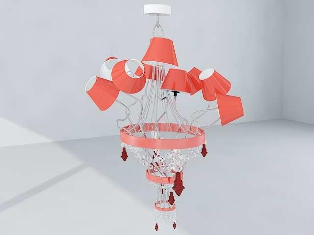 European-style pink crystal pendant chandeliers
