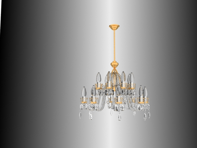 Crystal glass candle droplight 3D models (including material)