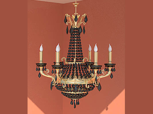 Black SPAR candle droplight 3D models (including material)