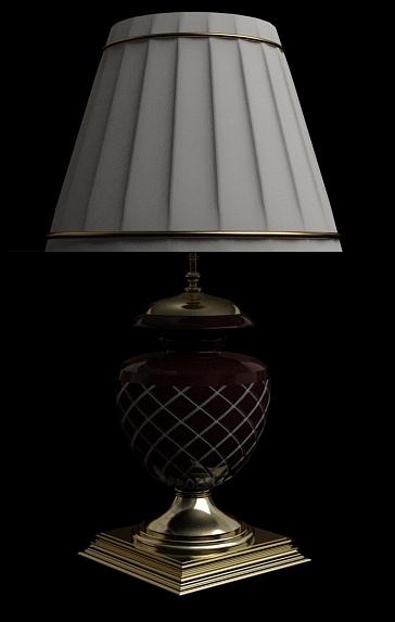 European ceramics lamp 3D models (including material)