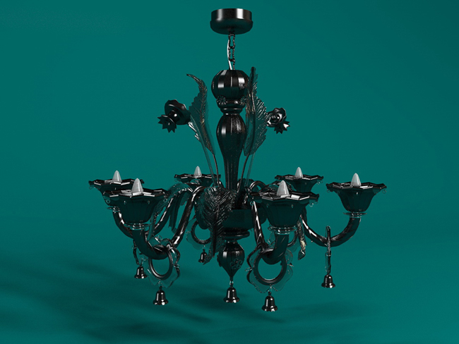 Black tie yi droplight 3D models (including material)