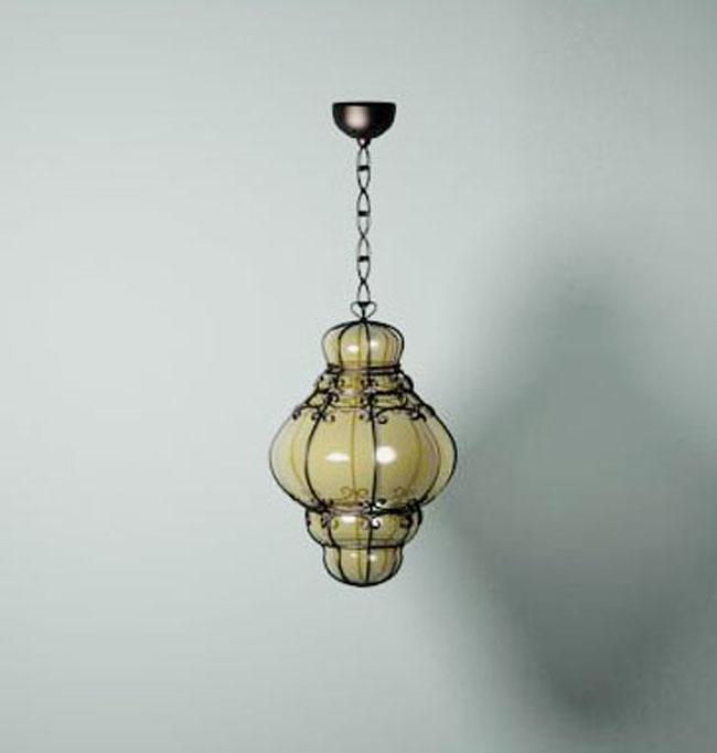 European glass ceiling lamp