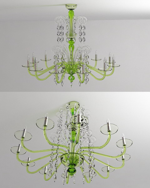 Green crystal droplight 3D models