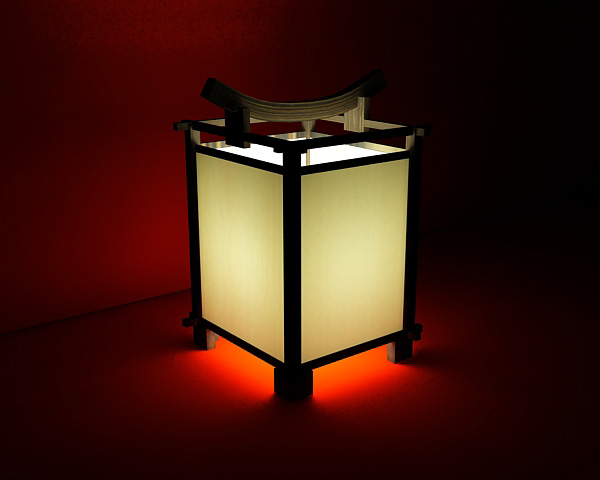 Chinese traditional style lamps and lanterns 3D models (including material)