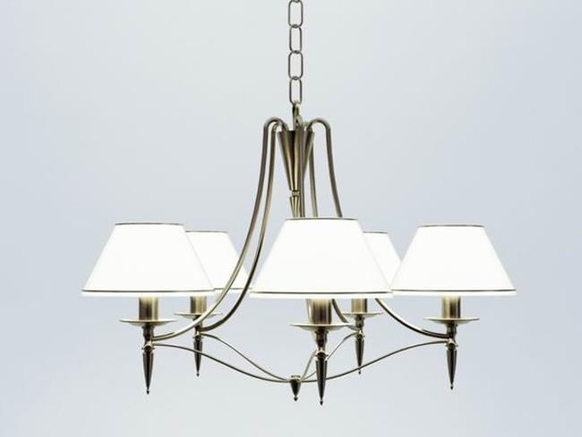 European white elegant chandelier