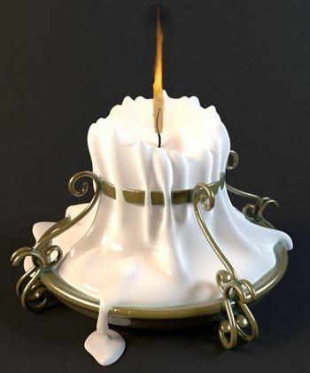 Elegant white candlestick