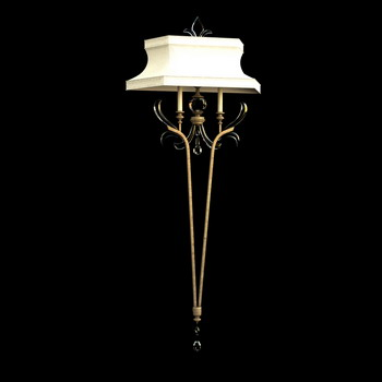 Single European retro floor lamp