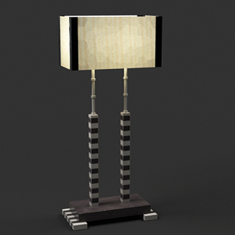 Single European Art Table Lamp