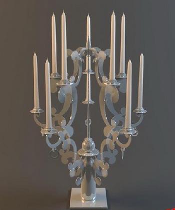 European jade candlestick 3D models