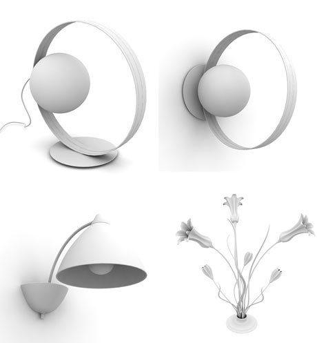 3D Model of Stylish Lighting