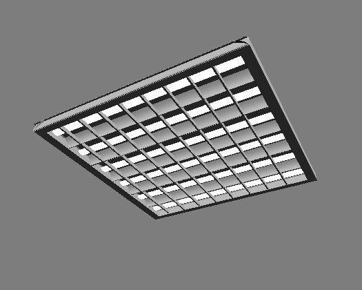 3D model of the ceiling wall